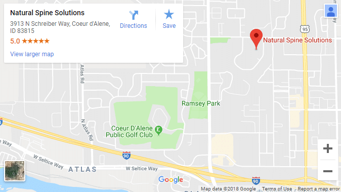 Map of Coeur D'Alene Chiropractors