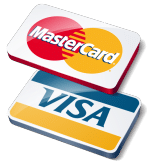 Chiropractic Coeur d'Alene ID Mastercard Visa logo